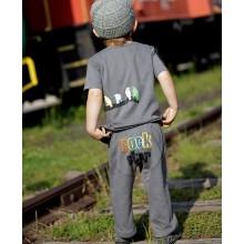 Gray Rock Star knit Crawler