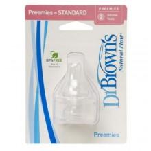 Dr Brown's Preemie Teats x 2