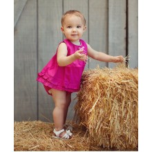 Fuchsia Ruffled Swing Top
