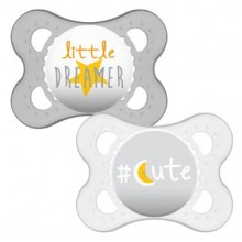 MAM Cute 0 Months Plus Soother 2 Pack