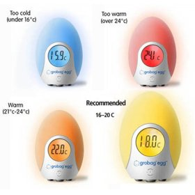 Gro Egg Digital Room Thermometer Nightlight 24 99